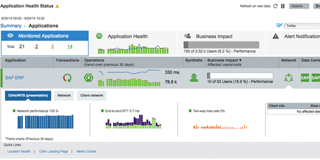 citrix application health